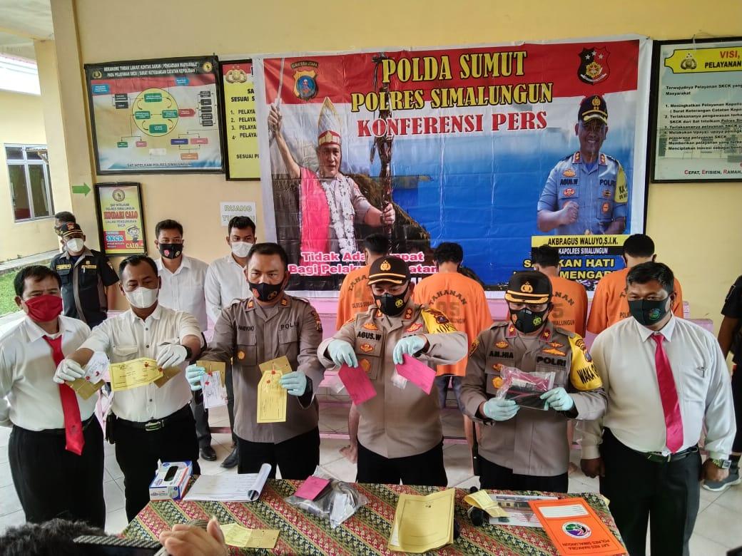 Satreskoba Polres Simalungun Berhasil Mengungkap 82 Kasus