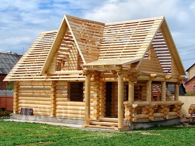 технология строительства деревянного дома из бревна