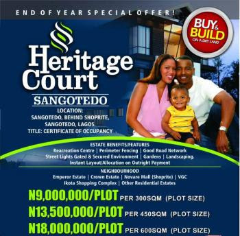 Heritage Court, Ajah, Lagos State. Plots of Land starting from N900,000