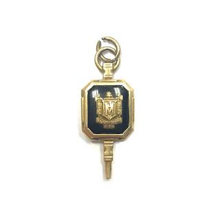 10K Gold and Onyx Vintage Madison High School Pendant
