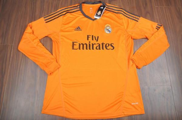 Jual Jersey Real Madrid Orange Lengan Panjang