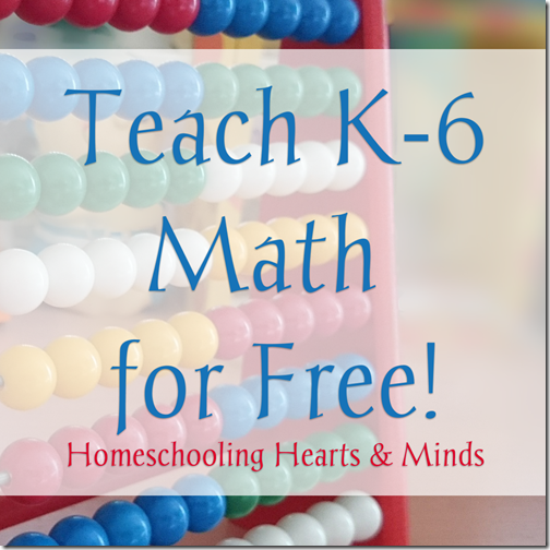 teach k-6 math for free