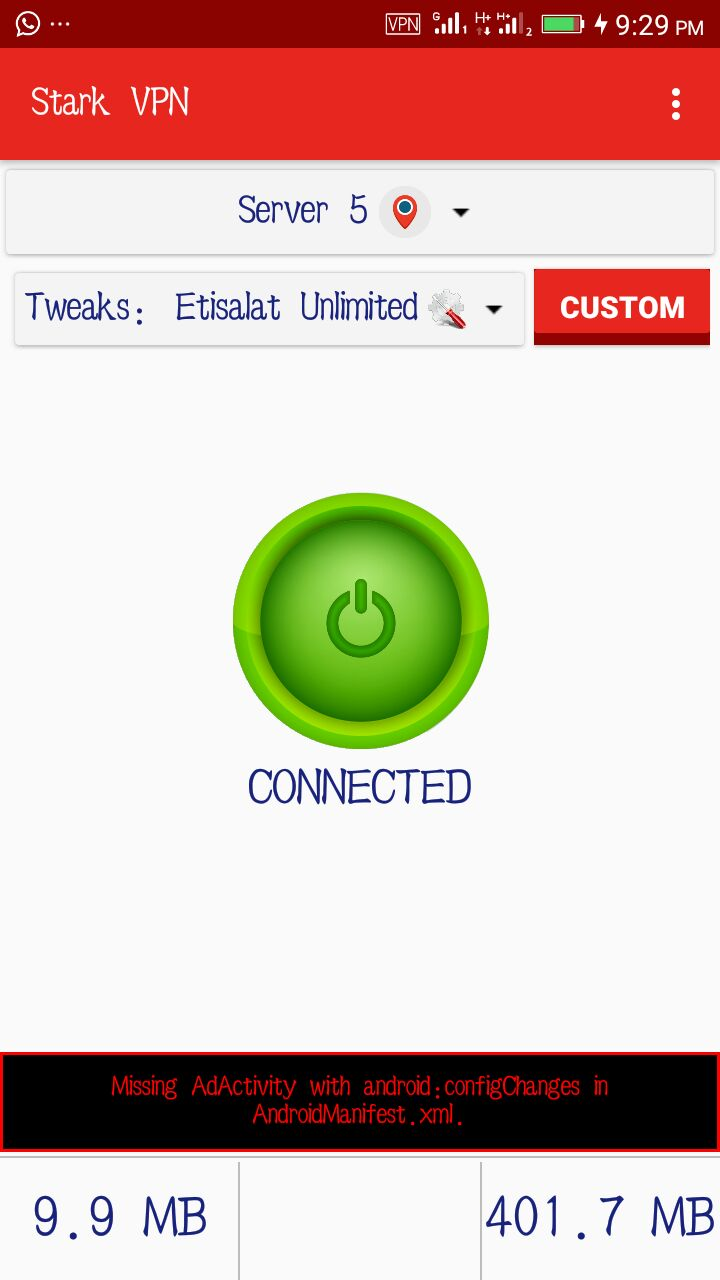 How to use etisalat unlimited on stark