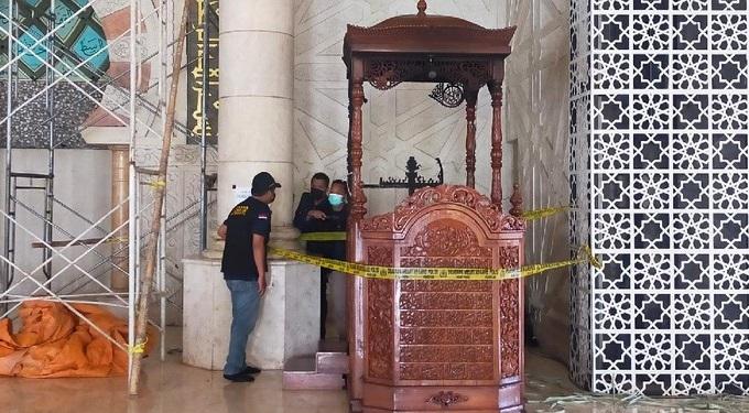 Terungkap! Begini Cara Pelaku Bakar Mimbar Masjid Raya Makassar