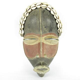 Fetish Mask with Puka Shells