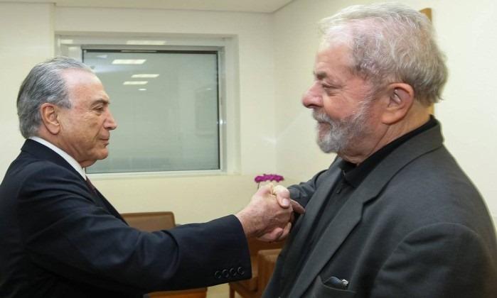 Temer visita Lula