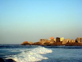 Waves on the beach in Dakar Senegal