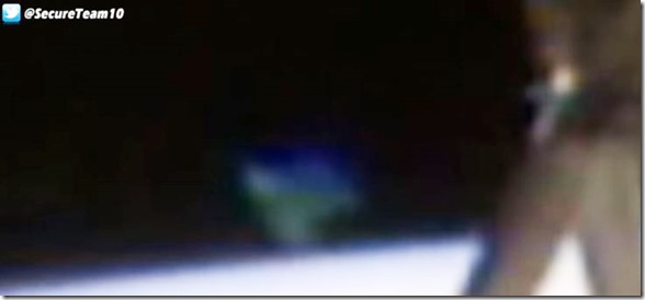 UFO Appears On ISS Live Cam