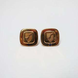 Tiffany & Co. Vermeil Tie Pin Pair