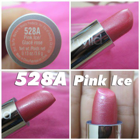 Màu Pink Iced 504A - Son Wet n Wild Silk Finish Lipstick