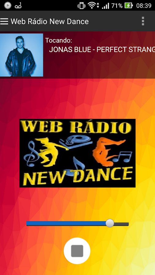 Web Rádio New Dance: captura de tela