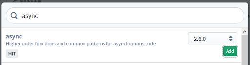 Adding 'async' dependency