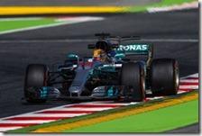 Lewis Hamilton nelle prove libere del gran premio di Spagna 2017