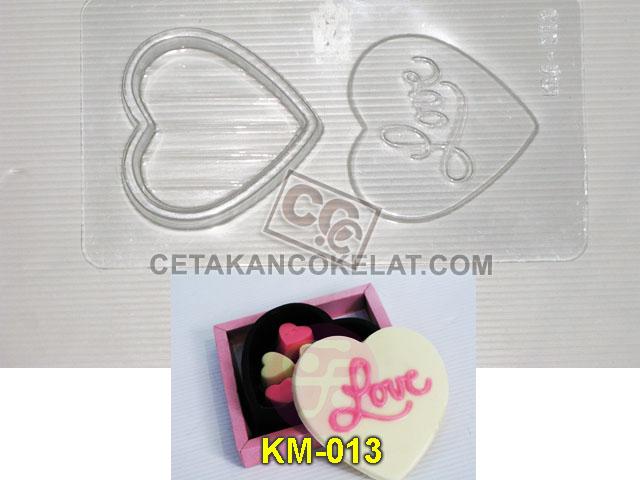 Cetakan Coklat KM013 KM KM13 cokelat love pour box tray
