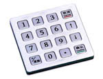anti vandal keypad CT-KPS03-16