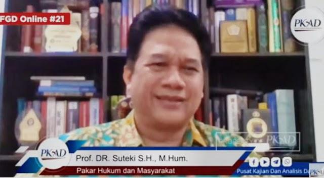 Prof. Suteki: Hukum Islam Menjamin Hadirnya Keadilan bagi Siapa pun