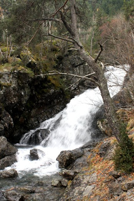 Waterfall in Arinsal Andorra