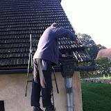 Rekonštrukcia strechy na kostole sv. Anny v Strážkach 24.9. - 25.10.2012