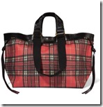 Isabel Marant leather trimmed tartan coated canvas tote
