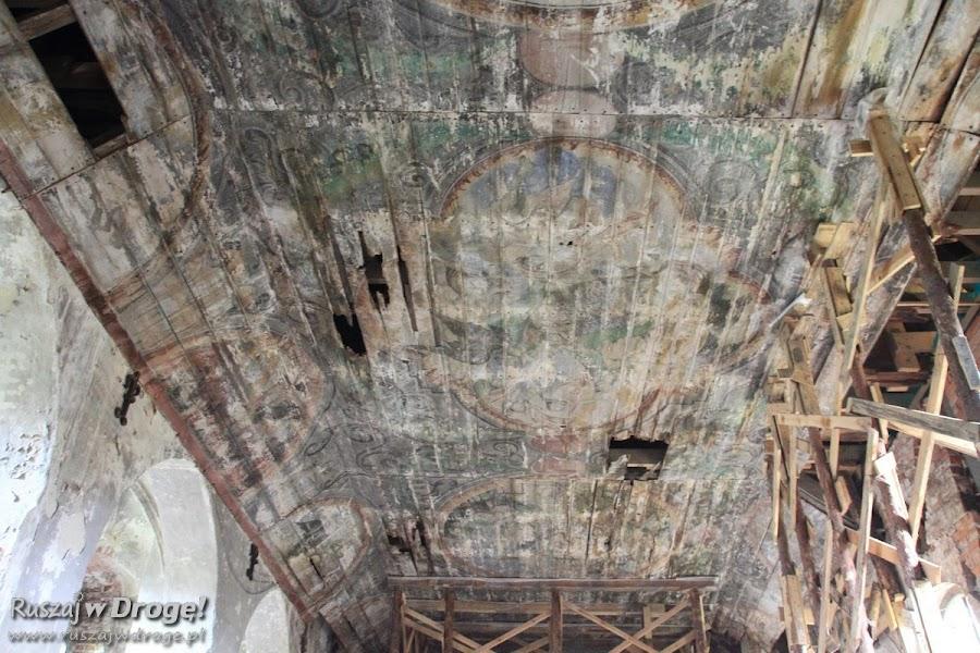 Ruiny kościoła w Gnojewie - malowidła