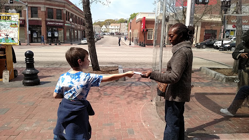 I'm so proud of my 12-year-old son, Caleb, being used by God to reach strangers for Jesus. Let's all step out of our comfort zone for the sake of the King of kings!