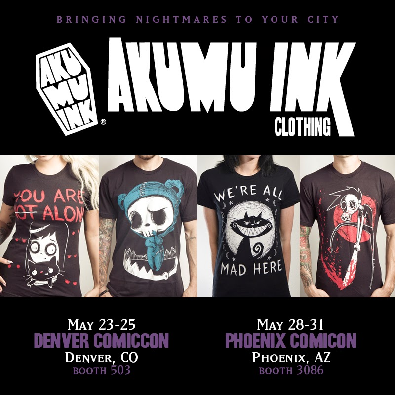 denver comiccon, skull shirts comiccon, emo shirt comicon, goth shirt comicon, coffin logo comicon, phoenix comicon,