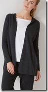 The White Company charcoal marl hooded swing cardigan