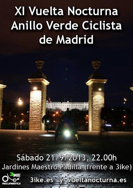 Vuelta Nocturna al Anillo Verde Ciclista, 21 de septiembre de 2013