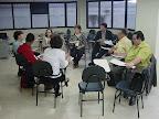 Reunião do Grupo Gestor da RENAS durante pré-encontro. Na ocasião, Susete Cardoso tem a fala.