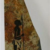 Kalahari  Wanderer   19in on slate with custom weled stand.  .jpg