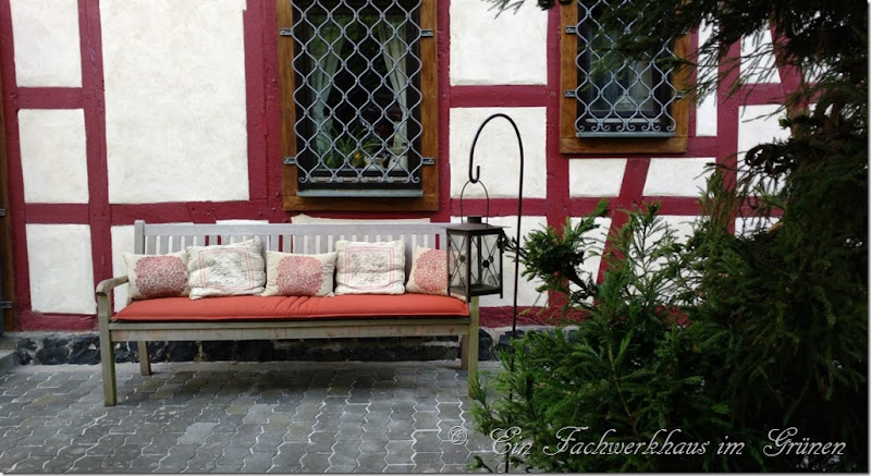 Ein Sitzplatz in unserem Garten.