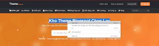 Hướng dẫn thay nội dung văn bản cho theme blogger