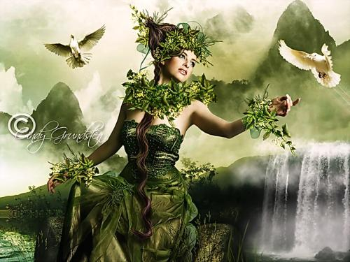 Green Witch And Doves, Green Witches