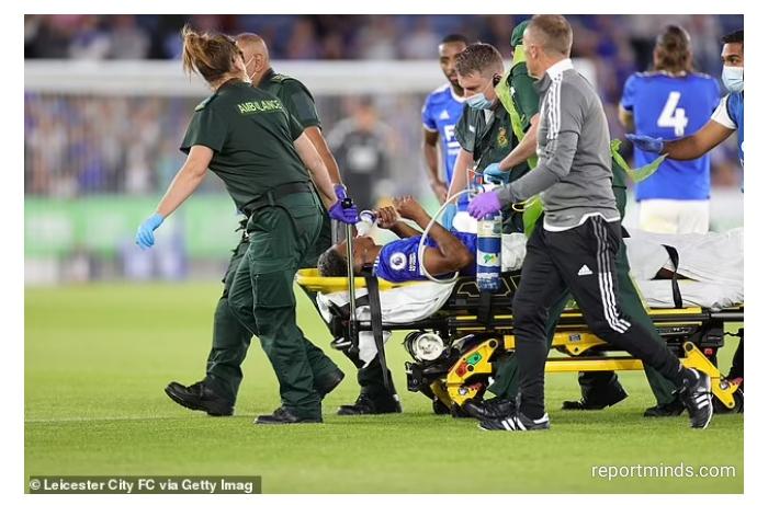 Wesley Fofana has suffered a suspected broken leg in Leicester's friendly versus Villarreal