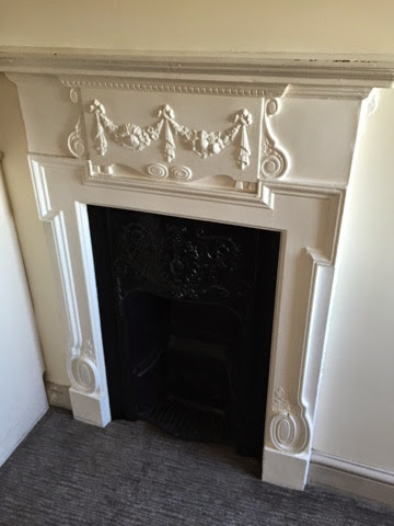 Royal York YHA Brighton ornate fireplace