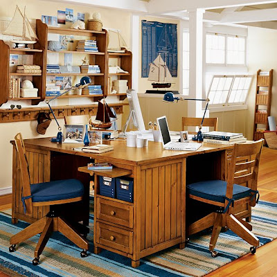 Kids study room furniture designs home office decoration for Home study furniture ideas