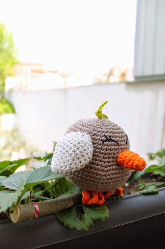 Not 2 late to craft: patró ocell de ganxet / crochet bird pattern