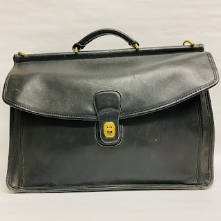 Coach Classic Black Leather Attache