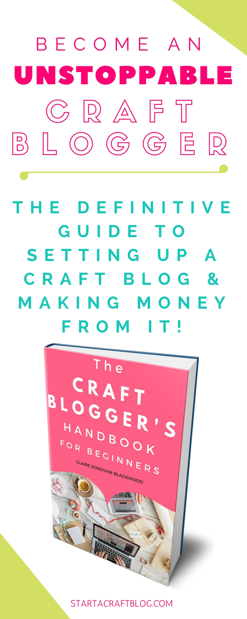 Are you ready to start a craft blog to be proud of? Grab your copy of the book and learn how to organize your ideas into content that can be read and shared by millions of people! The definitive guide to starting a craft blog in 2017 and beyond. Plus a 50 page printable bloggy business planner is available. #blogging #bloggingtips #blogger #craftblog