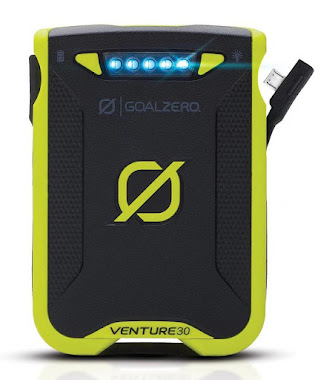 The Venture 30 Recharger from GoalZero: eco-friendly and packed with power. (Click to enlarge.)