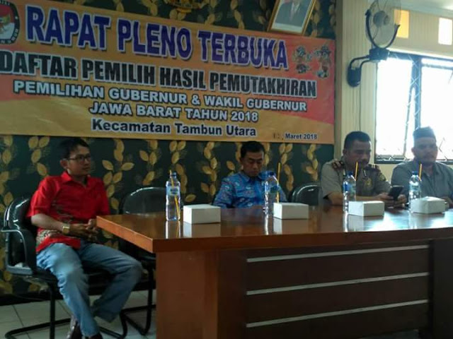 PPK Tambun utara Gelar Rapat Pleno DPHP