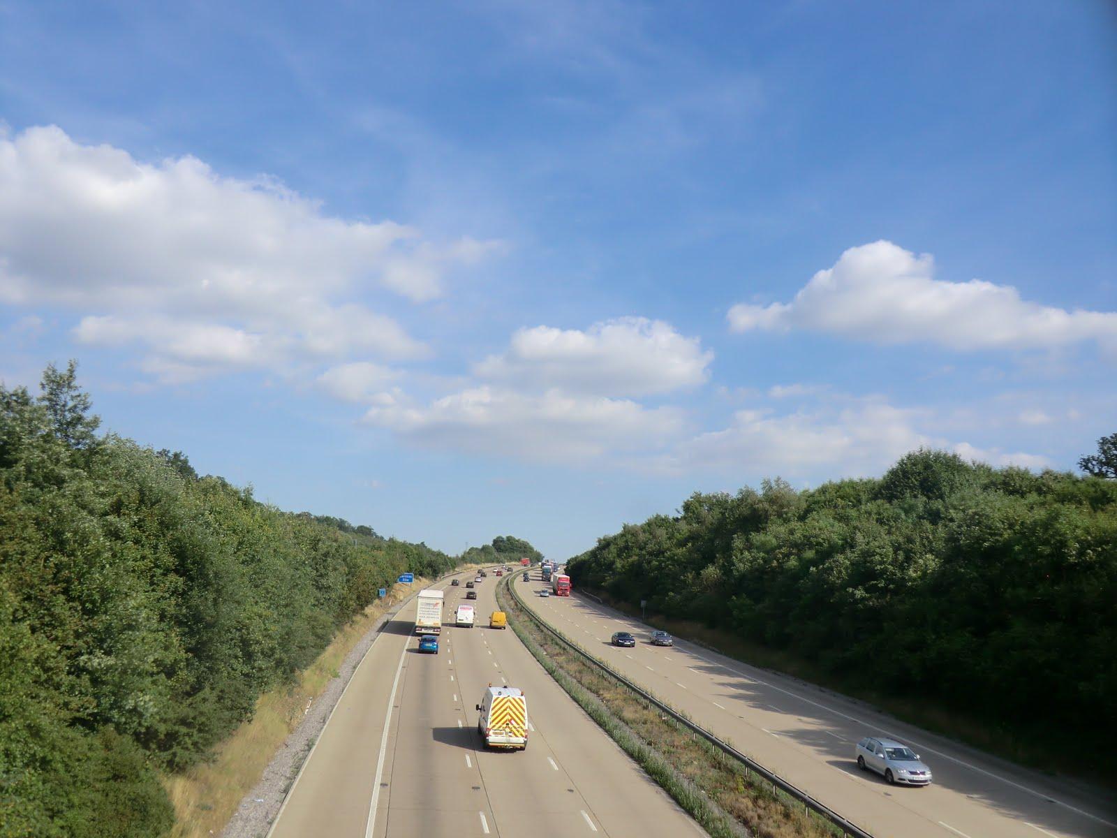 CIMG3011 Crossing the motorway