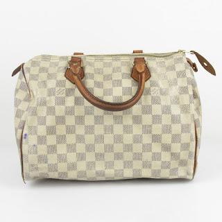 Louis Vuitton Damier Azul Speedy 30 Handbag