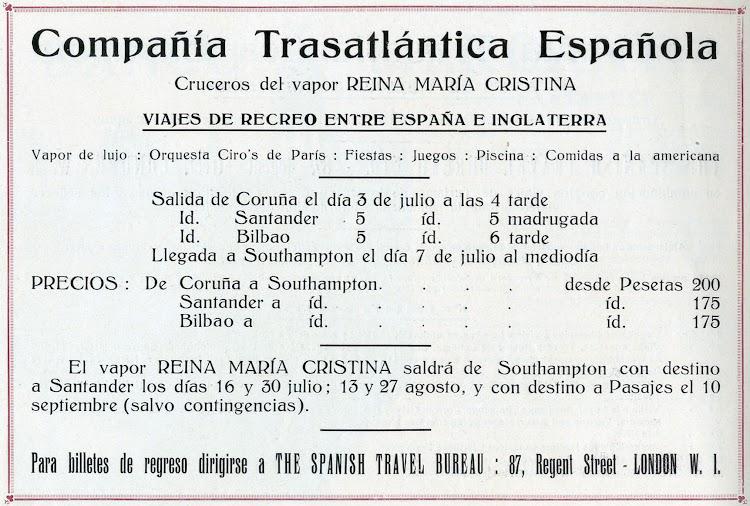 Anuncio en castellano. Libro de Información. 1927. CTE.jpg