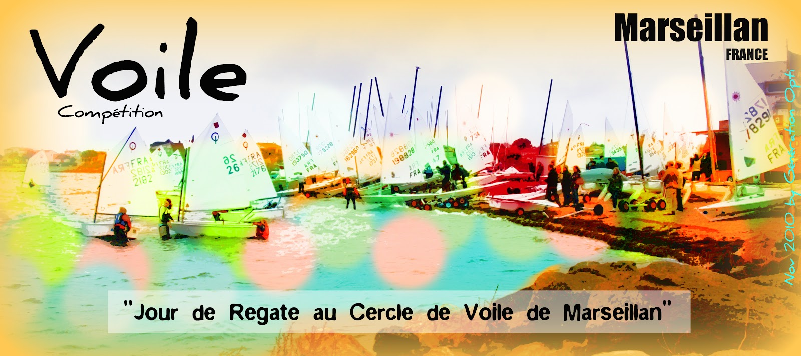 Voile Optimist Generation-Opti Hérault Compétition régate