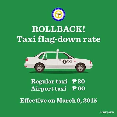 taxi cab new flag-down rate at 30