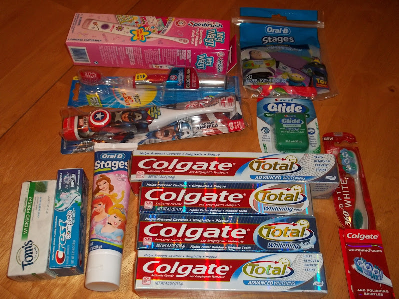 Our full donation of oral care items for Lifebridge #SpinbrushCFK