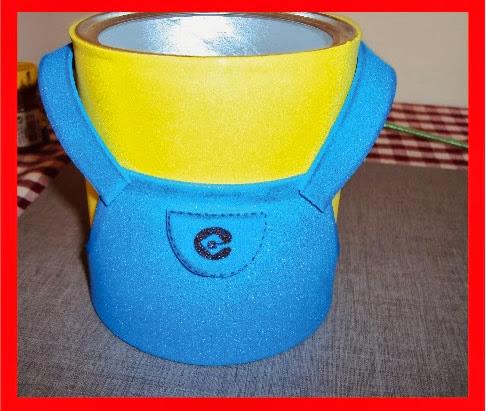 Latinha com EVA minions