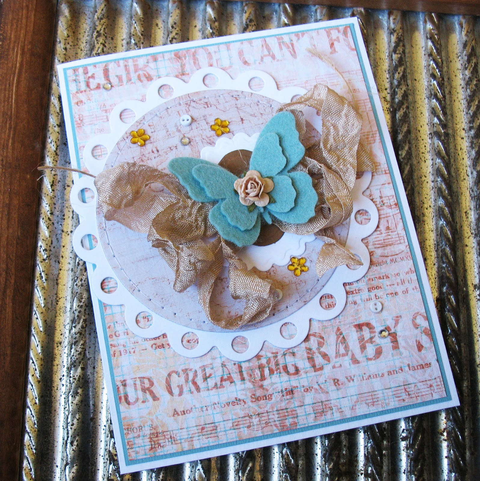 Card Blanc By Kathy Martin Butterfly Greeting
