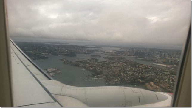 Cloud view of Sydney Harbour